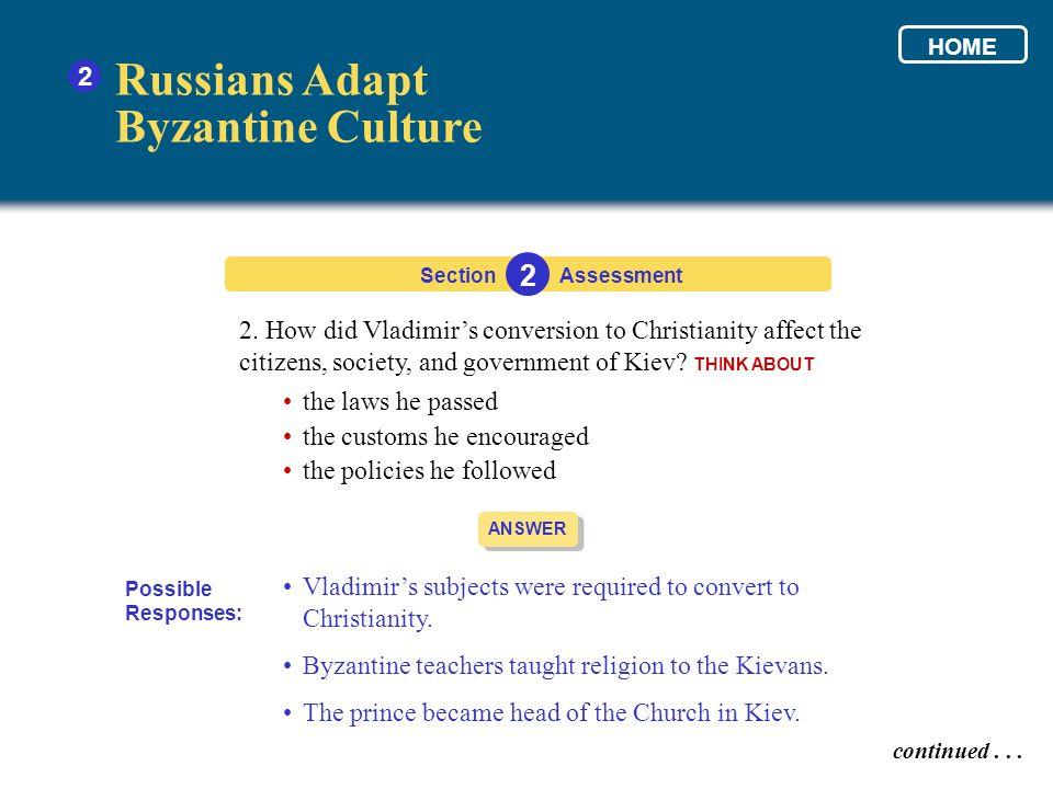 Russians Adapt Byzantine Culture 2 2