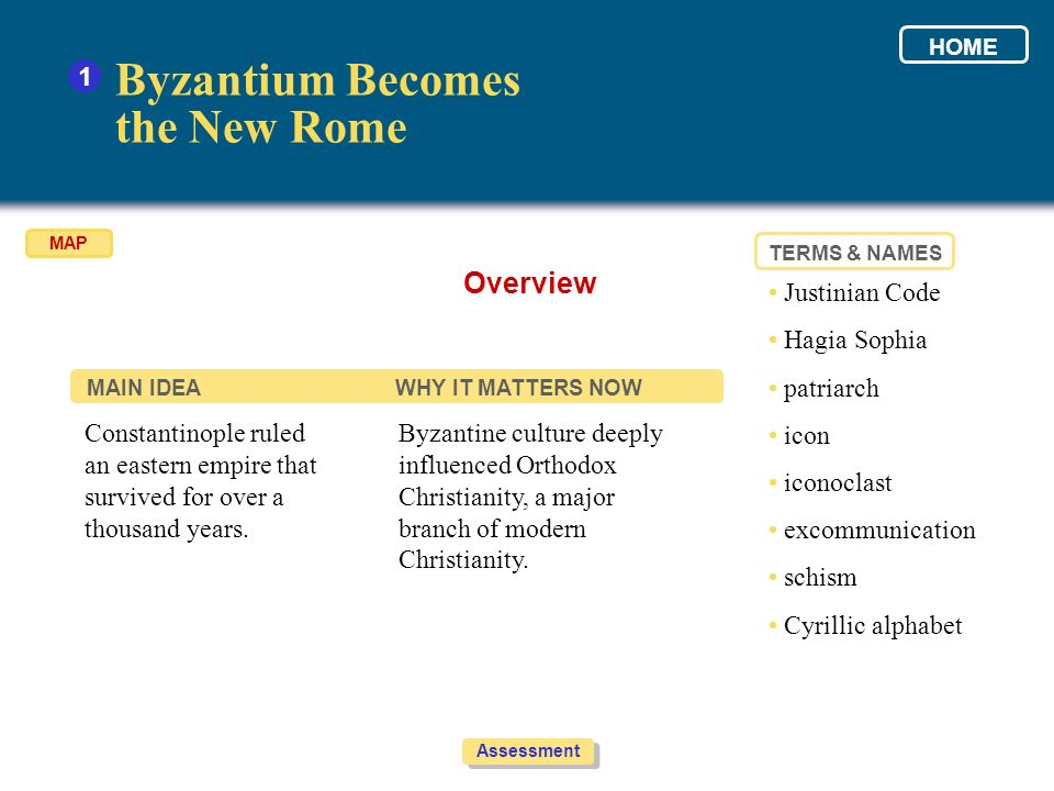 Byzantium Becomes the New Rome Overview 1 • Justinian Code