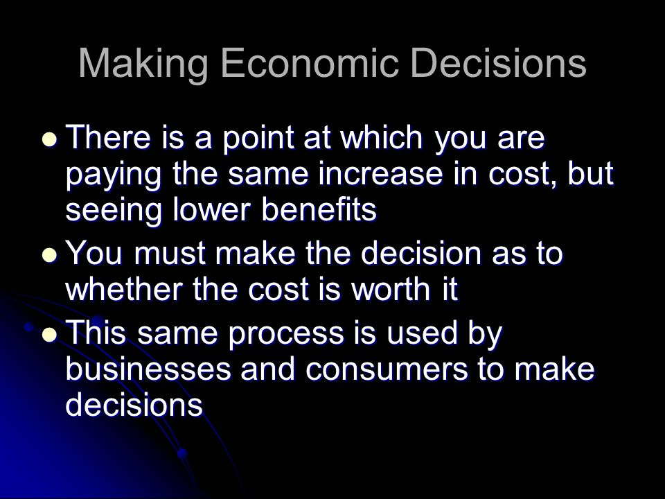 Making Economic Decisions