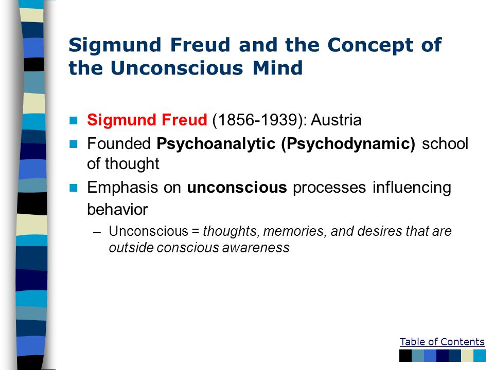 who is sigmund freud his thoughts This idea was bolstered by his continued experiments with patients who were suffering from hysterias, or physical symptoms that had no ostensible physical cause freud let his patients speak freely in hopes of unlocking their previously repressed thoughts, a process which led him to conclude that stifled sexual feelings.