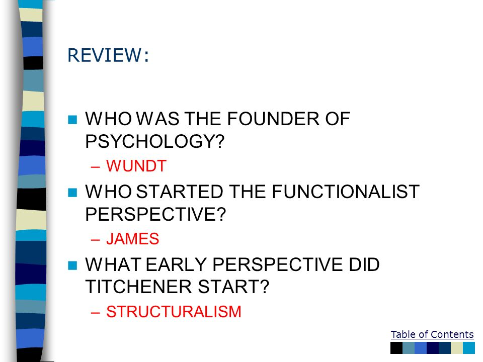 WHO WAS THE FOUNDER OF PSYCHOLOGY