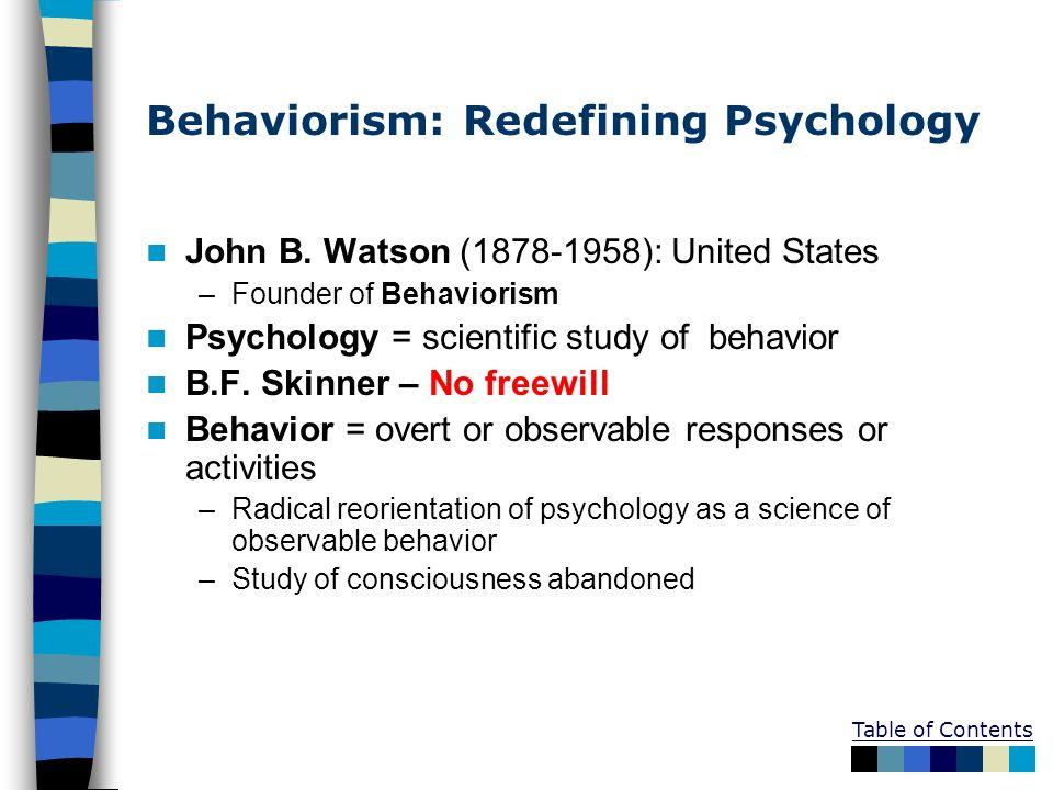 Behaviorism: Redefining Psychology