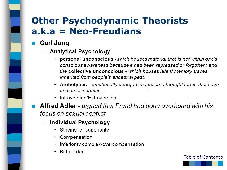 Other Psychodynamic Theorists a.k.a = Neo-Freudians