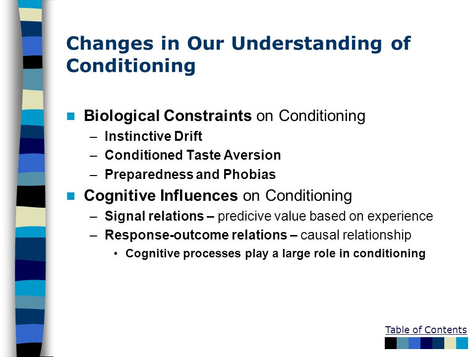 Changes in Our Understanding of Conditioning