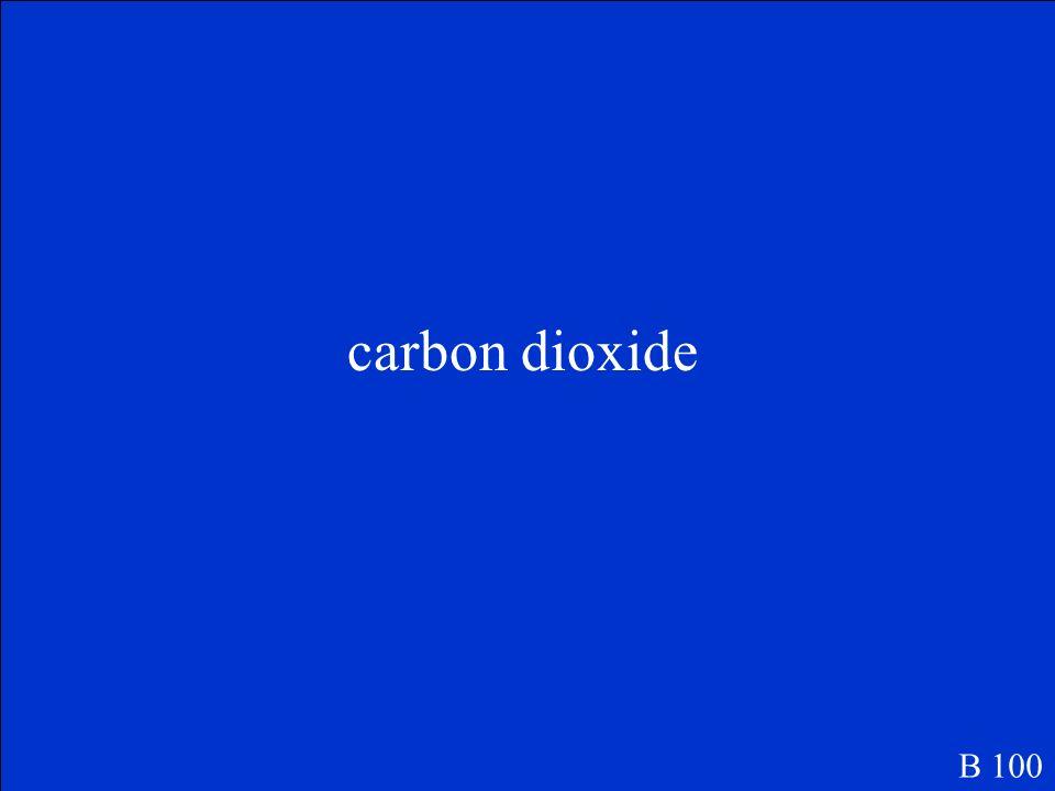 carbon dioxide B 100
