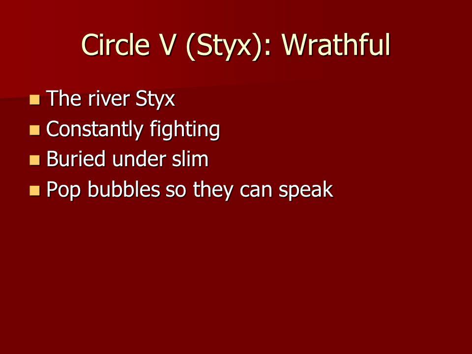 Circle V (Styx): Wrathful