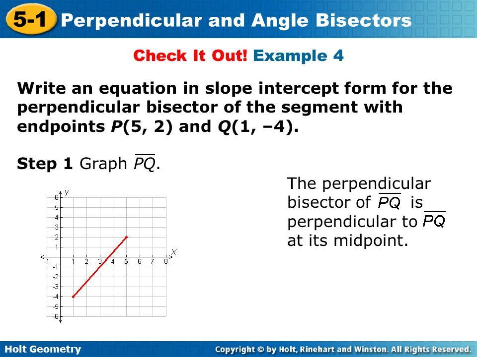 Verticle with respect Bisector