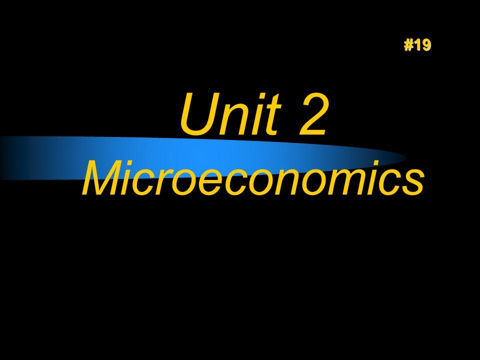 #19 Unit 2 Microeconomics