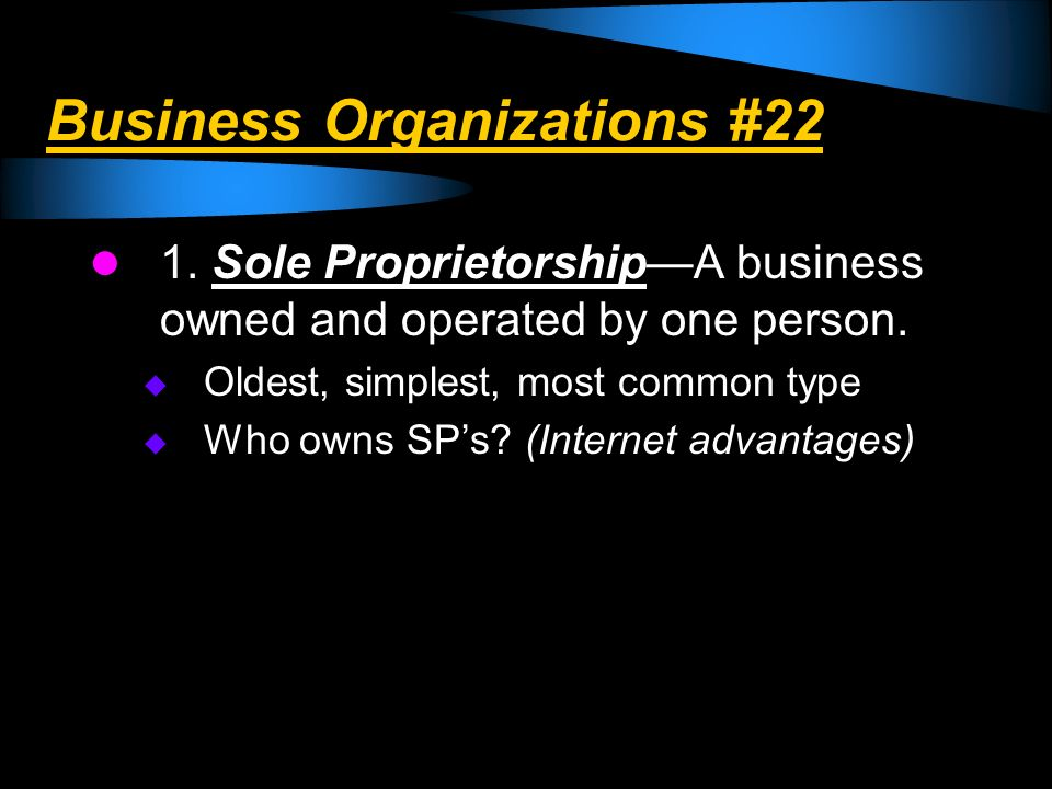 Business Organizations #22