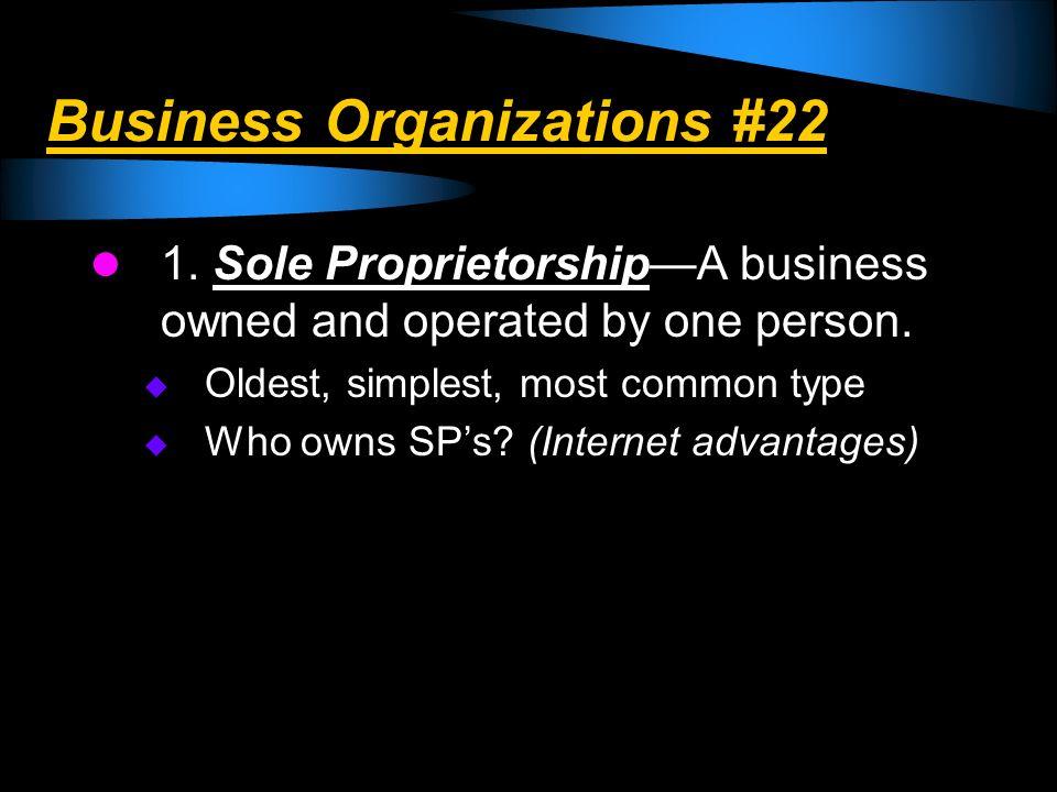 Business Organizations #22