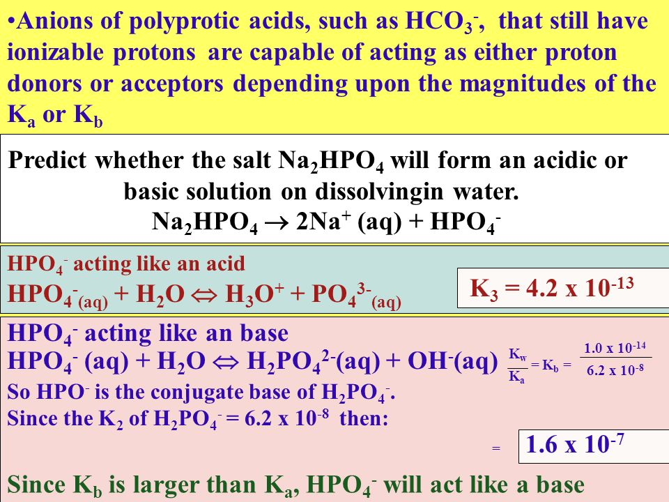 Predict whether the salt Na2HPO4 will form an acidic or
