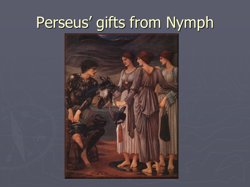 Perseus' gifts from Nymph