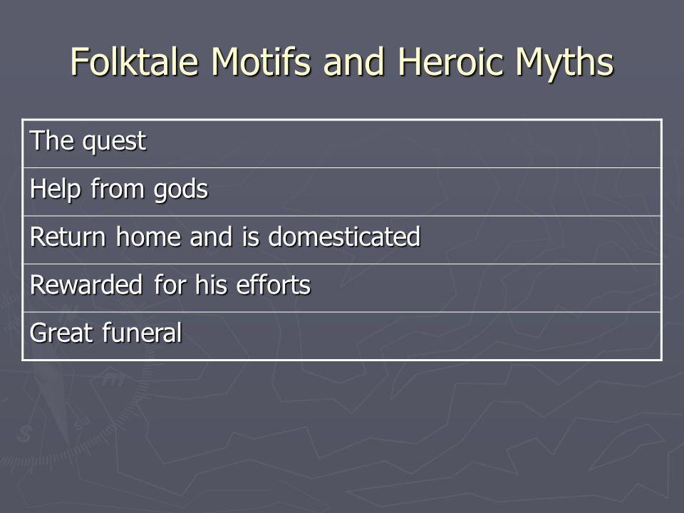 Folktale Motifs and Heroic Myths