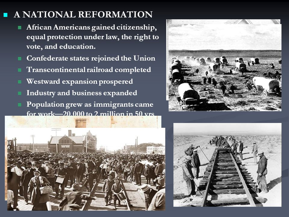 A NATIONAL REFORMATION