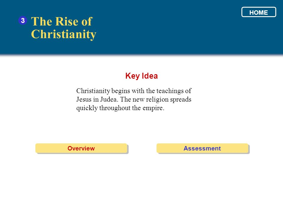 The Rise of Christianity Key Idea 3