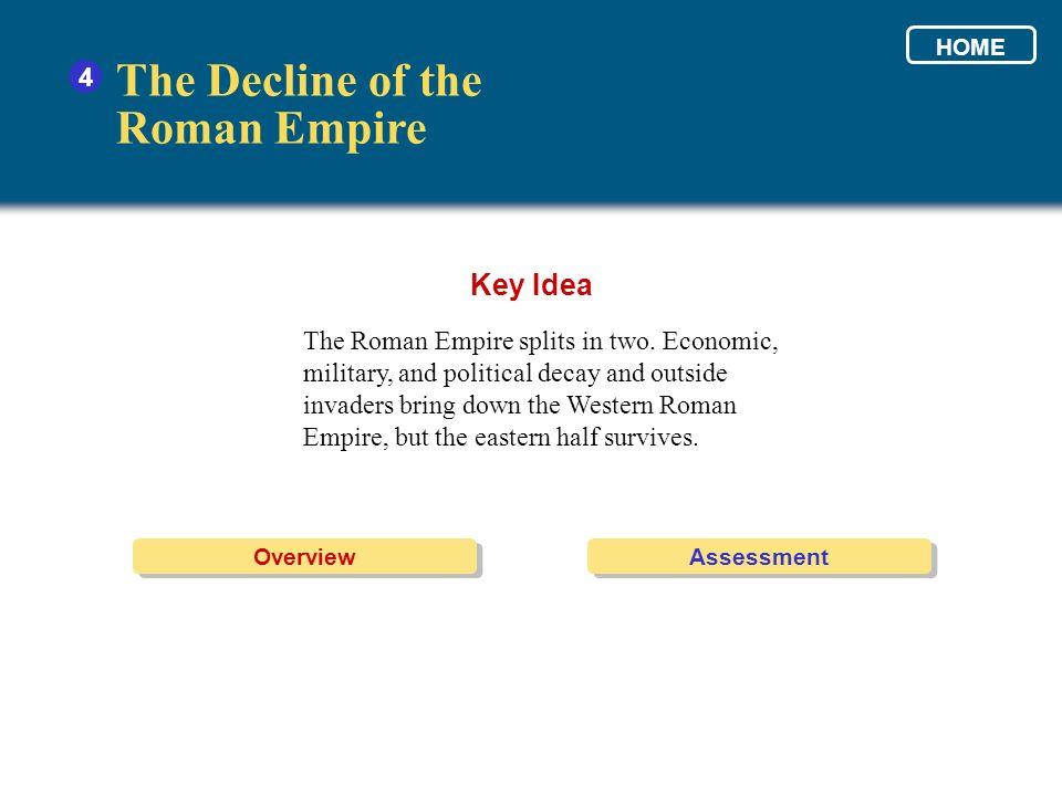 The Decline of the Roman Empire Key Idea 4