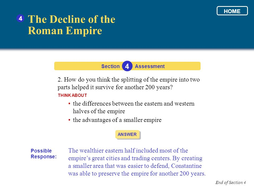 The Decline of the Roman Empire 4 4