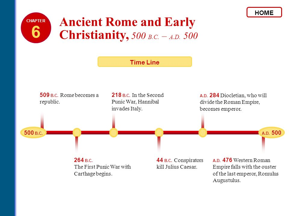 6 Ancient Rome and Early Christianity, 500 B.C. – A.D. 500 HOME