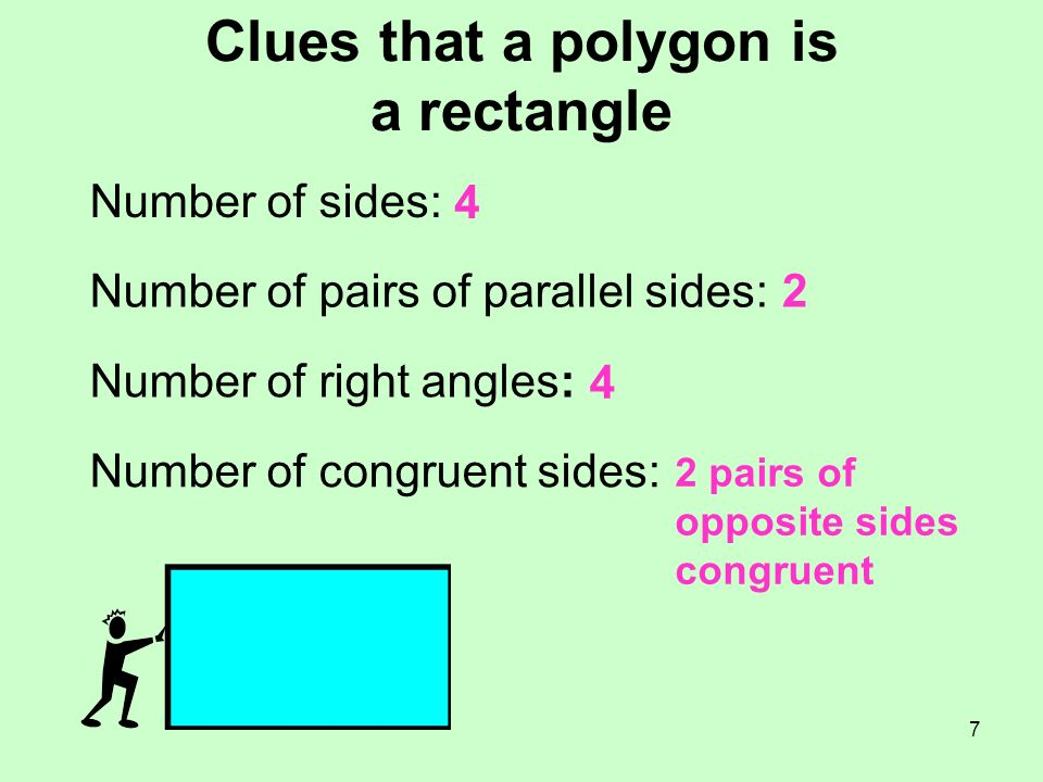Clues that a polygon is a rectangle