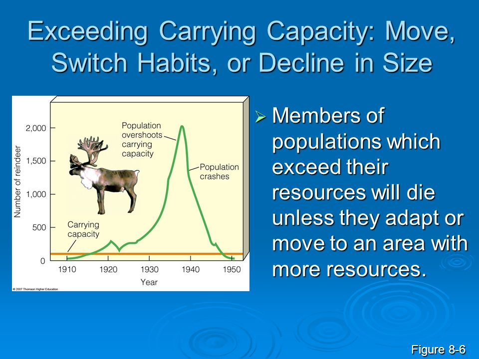 Exceeding Carrying Capacity: Move, Switch Habits, or Decline in Size
