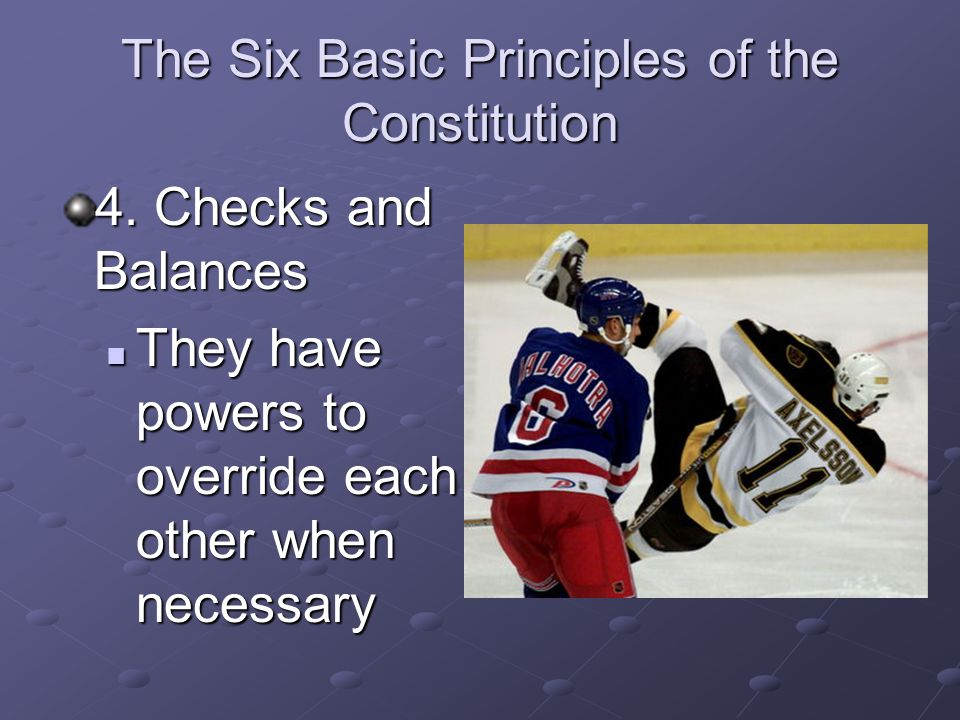 The Six Basic Principles of the Constitution