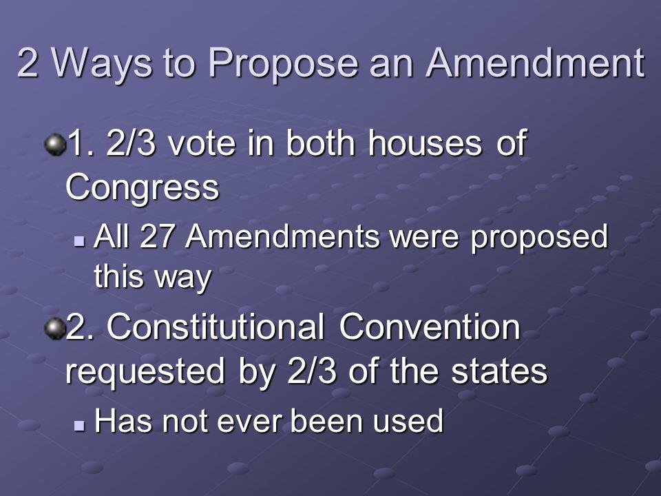 2 Ways to Propose an Amendment