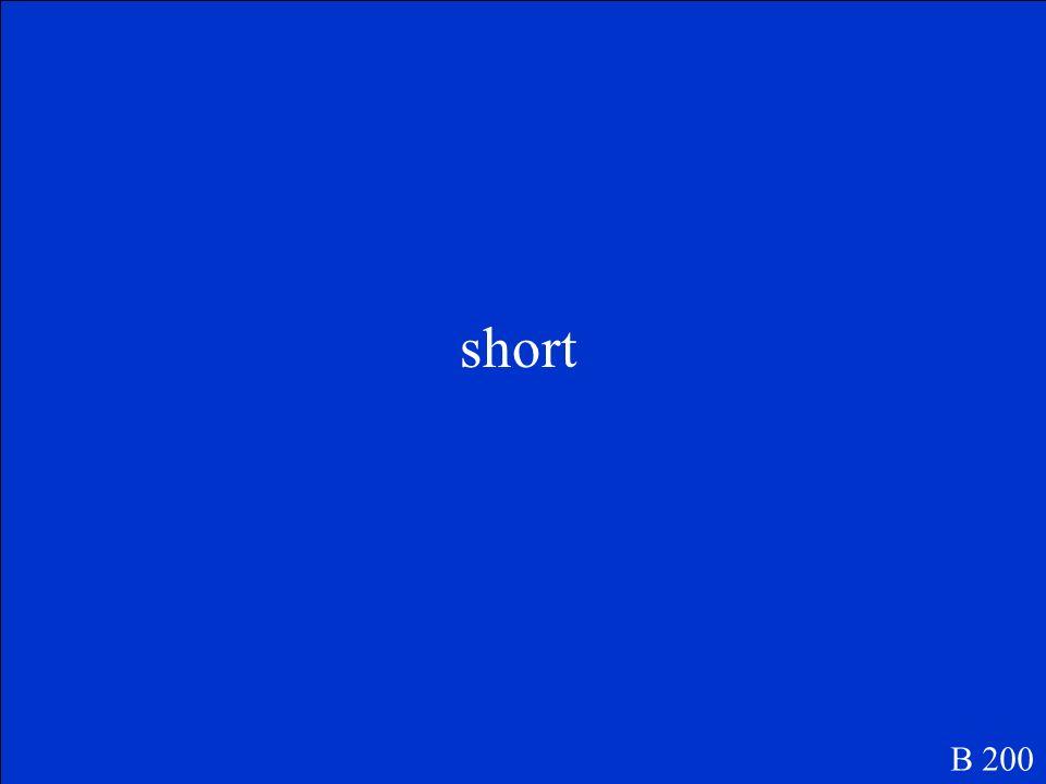 short B 200