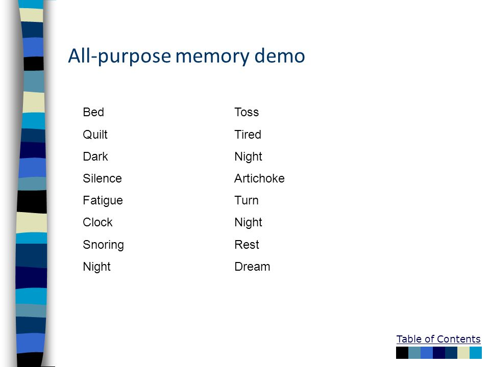 All-purpose memory demo