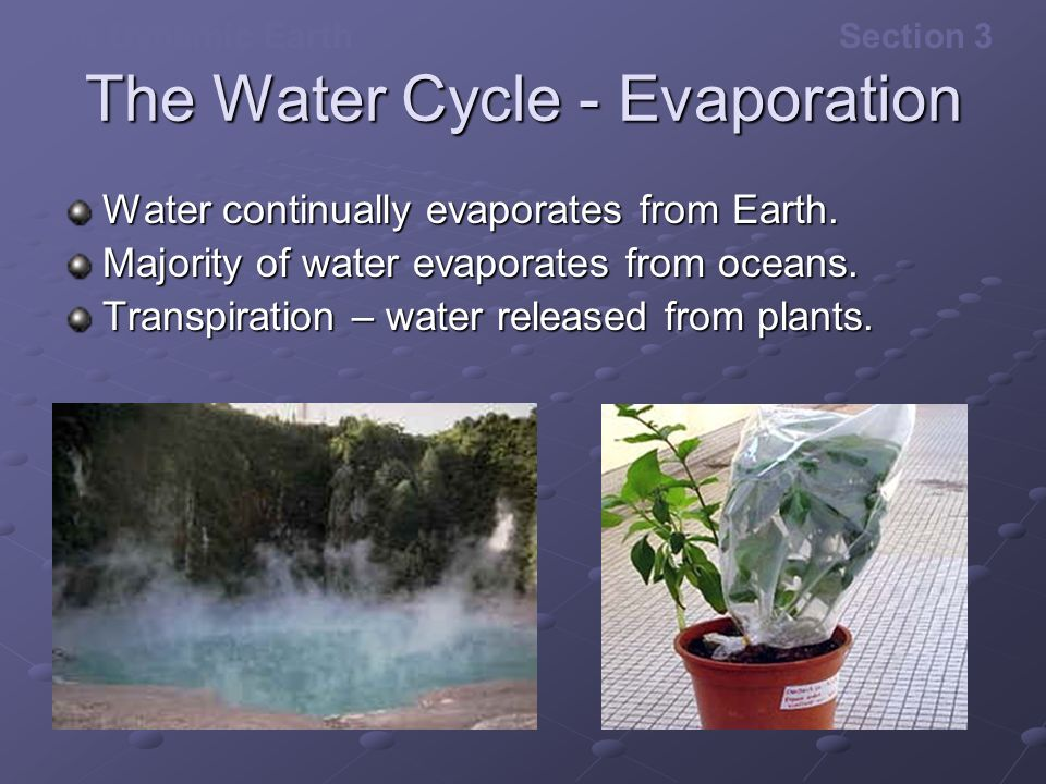 The Water Cycle - Evaporation
