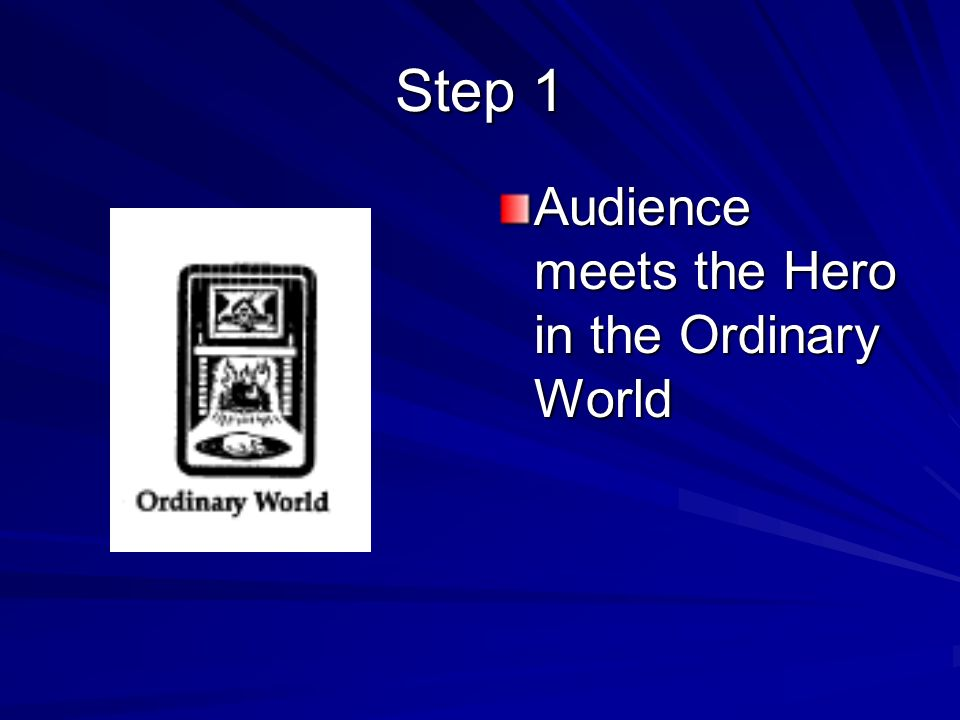 Step 1 Audience meets the Hero in the Ordinary World