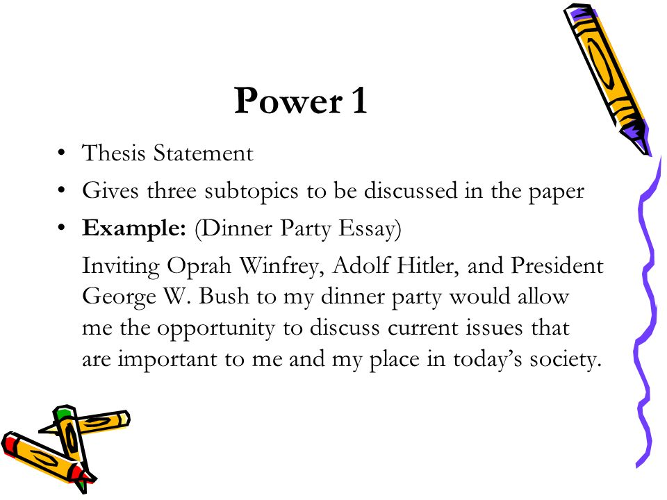 Power 1 Thesis Statement