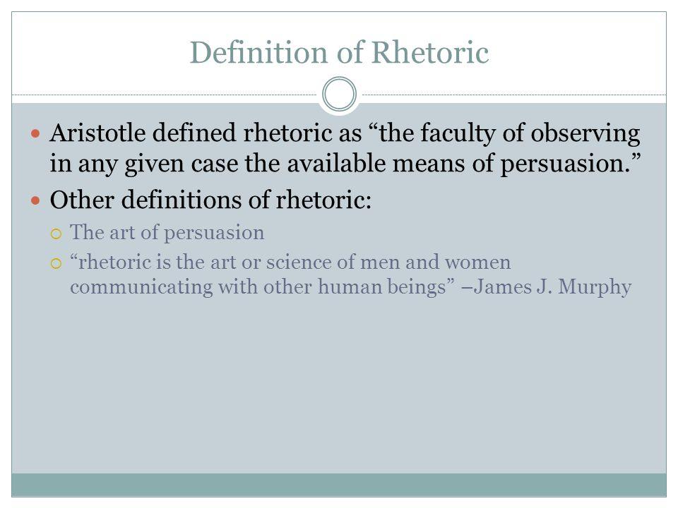 Definition of Rhetoric