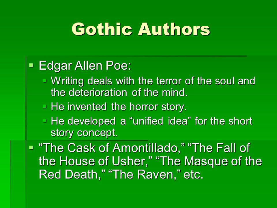 Gothic Authors Edgar Allen Poe: