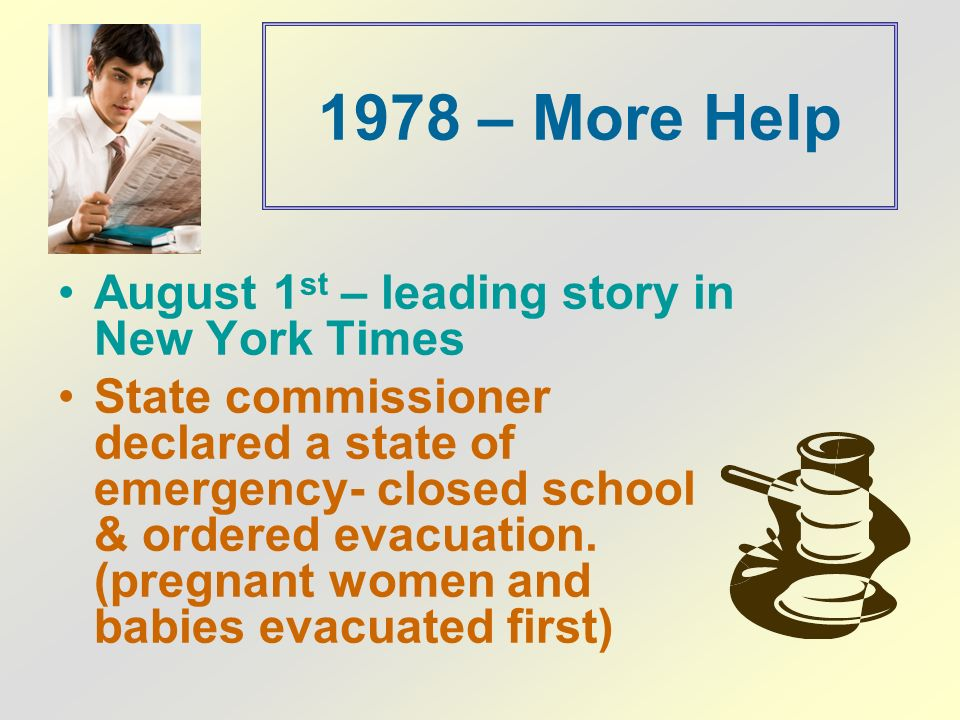 1978 – More Help August 1st – leading story in New York Times