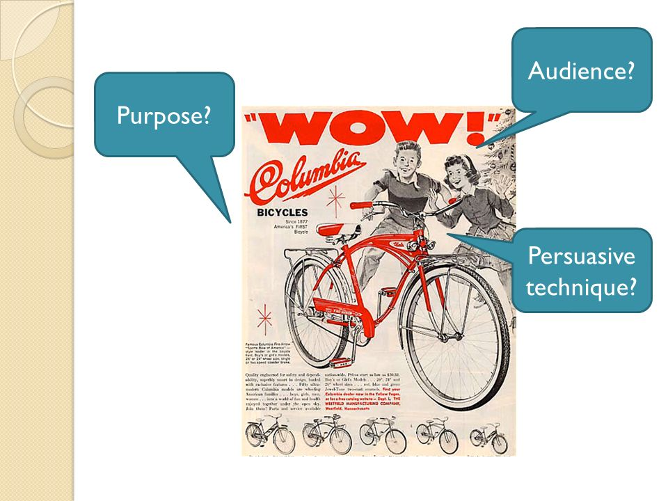 Audience Purpose Persuasive technique