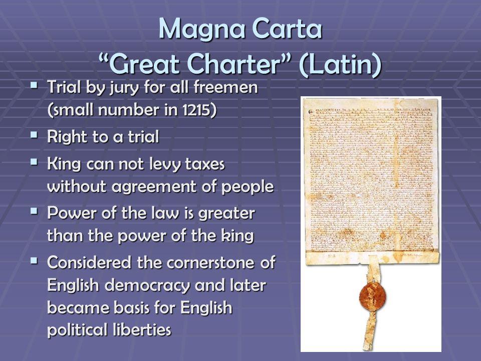 Magna Carta Great Charter (Latin)