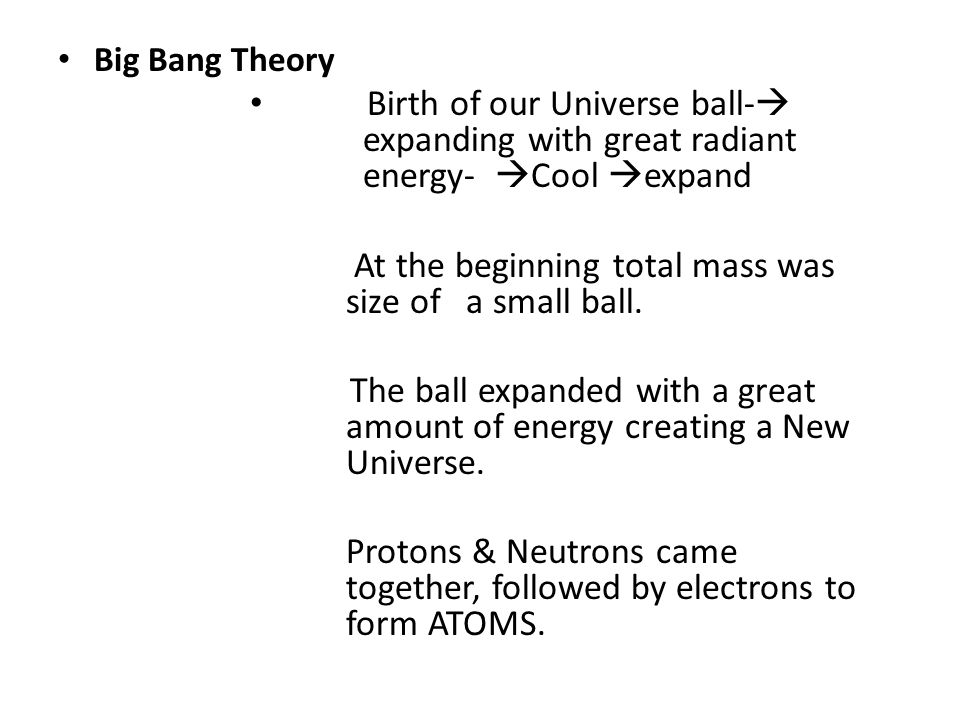 At the beginning total mass was size of a small ball.