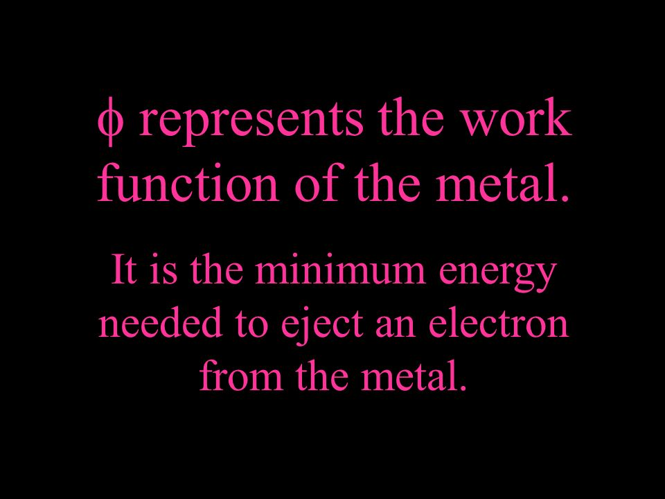  represents the work function of the metal.