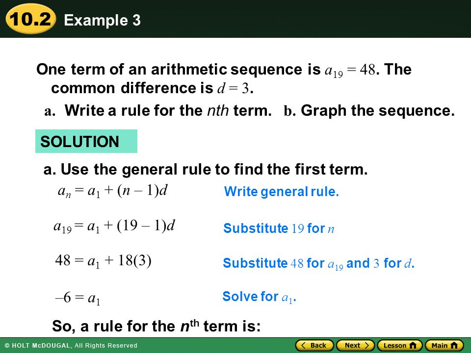 a. Write a rule for the nth term. b. Graph the sequence.