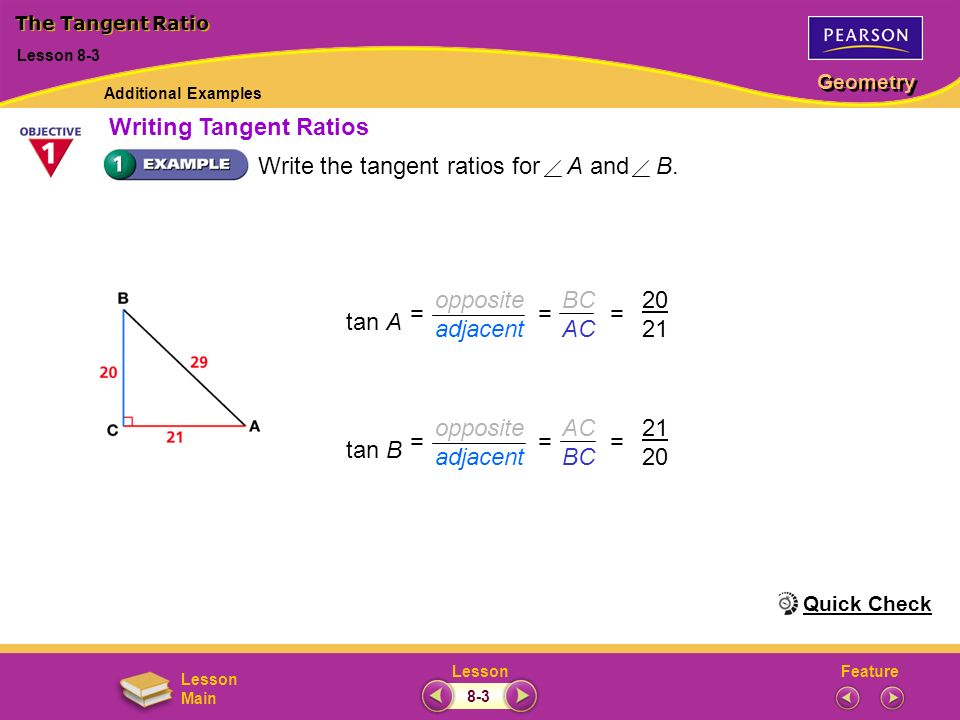 Writing Tangent Ratios