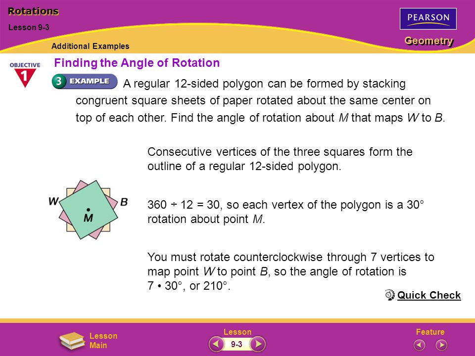 Finding the Angle of Rotation