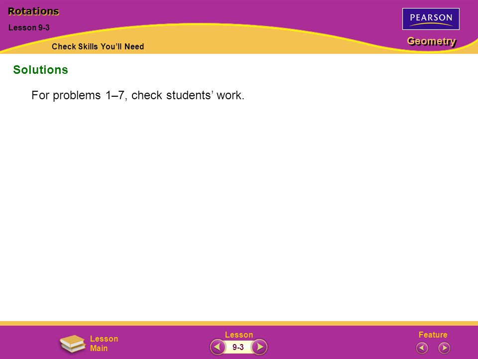 For problems 1–7, check students' work.