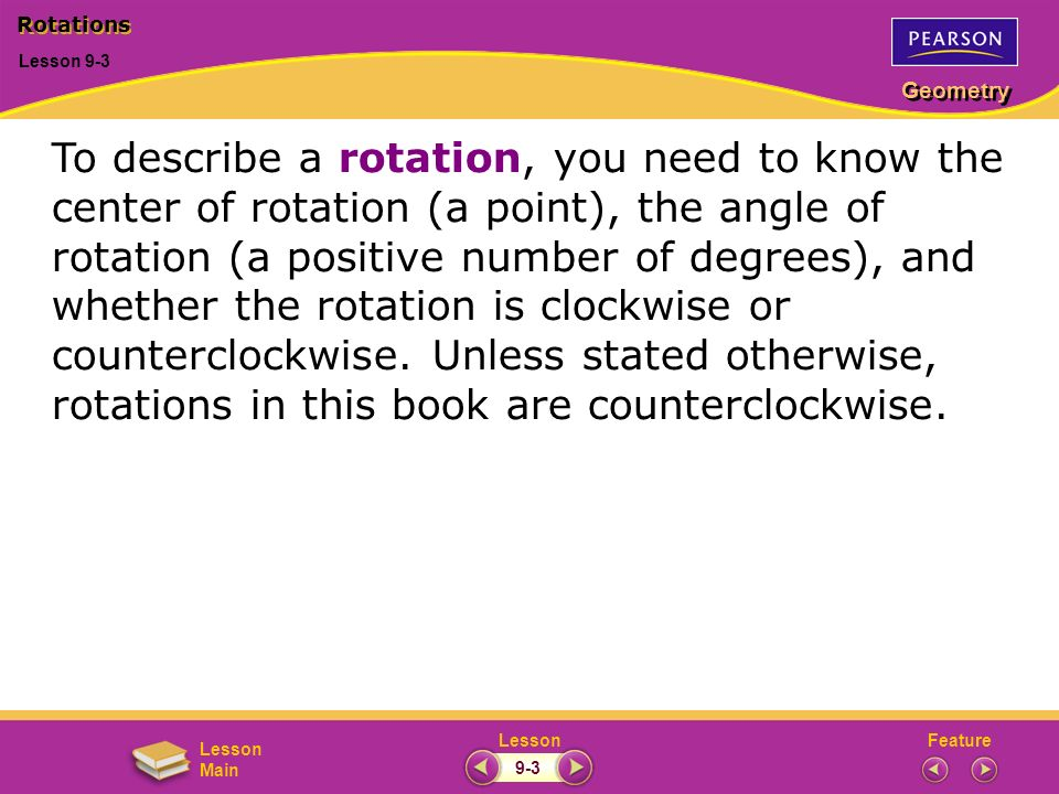 Rotations Lesson 9-3.