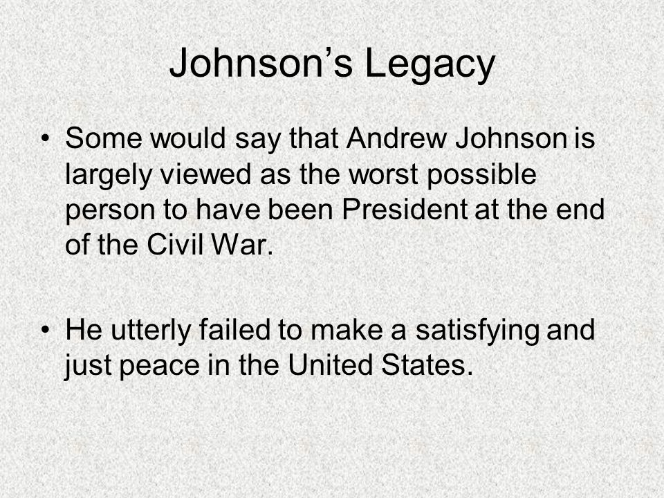 Johnson's Legacy