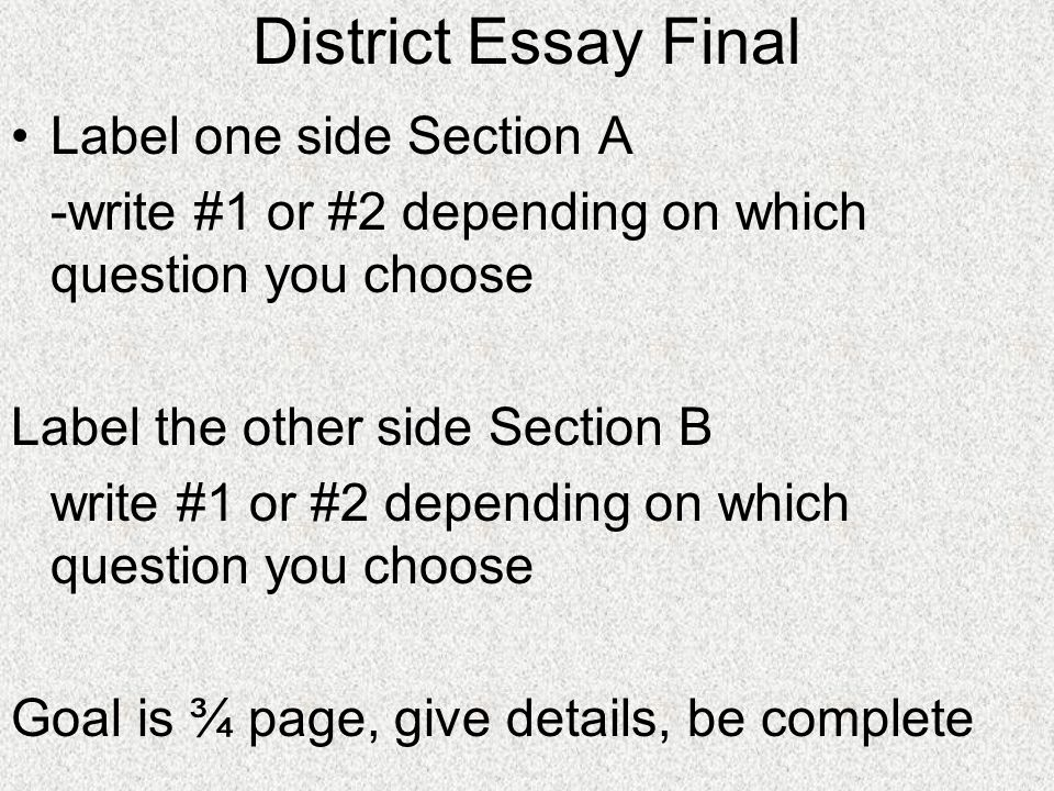 District Essay Final Label one side Section A