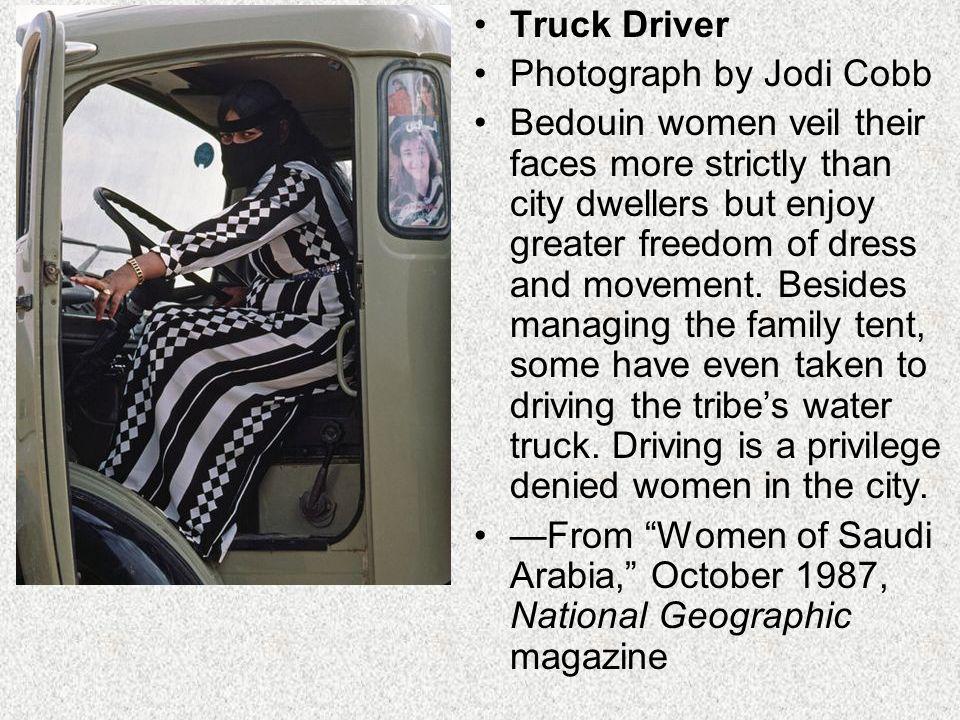 Truck Driver Photograph by Jodi Cobb.