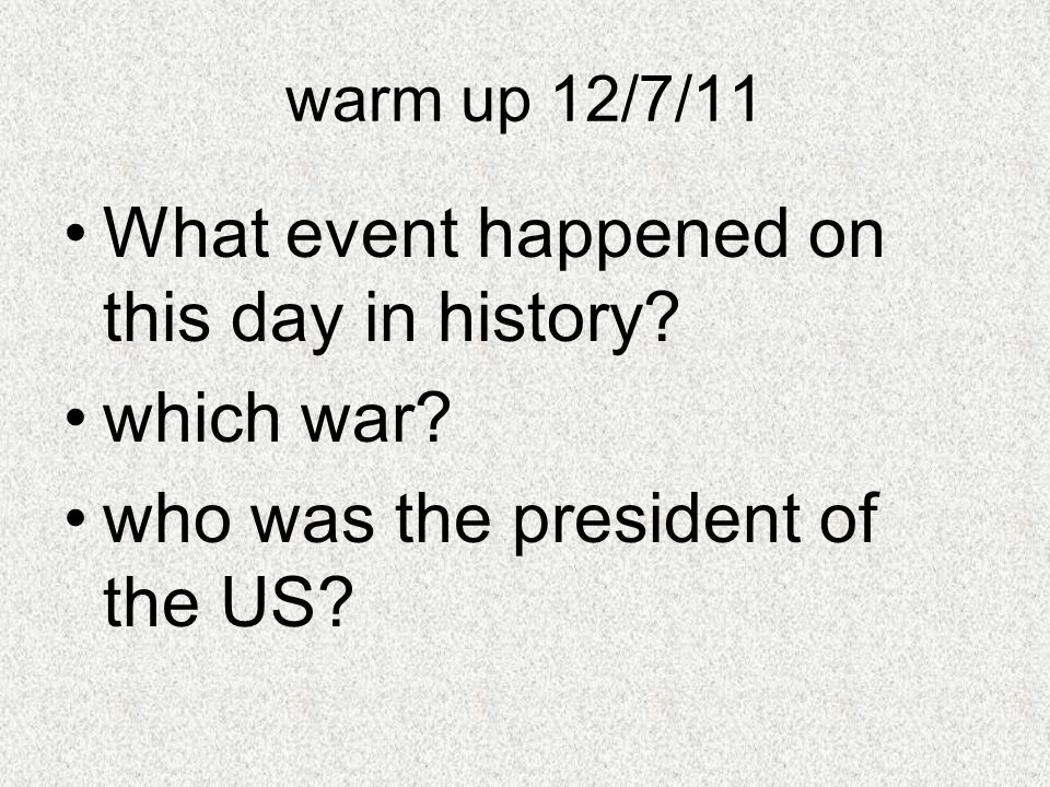 What event happened on this day in history which war
