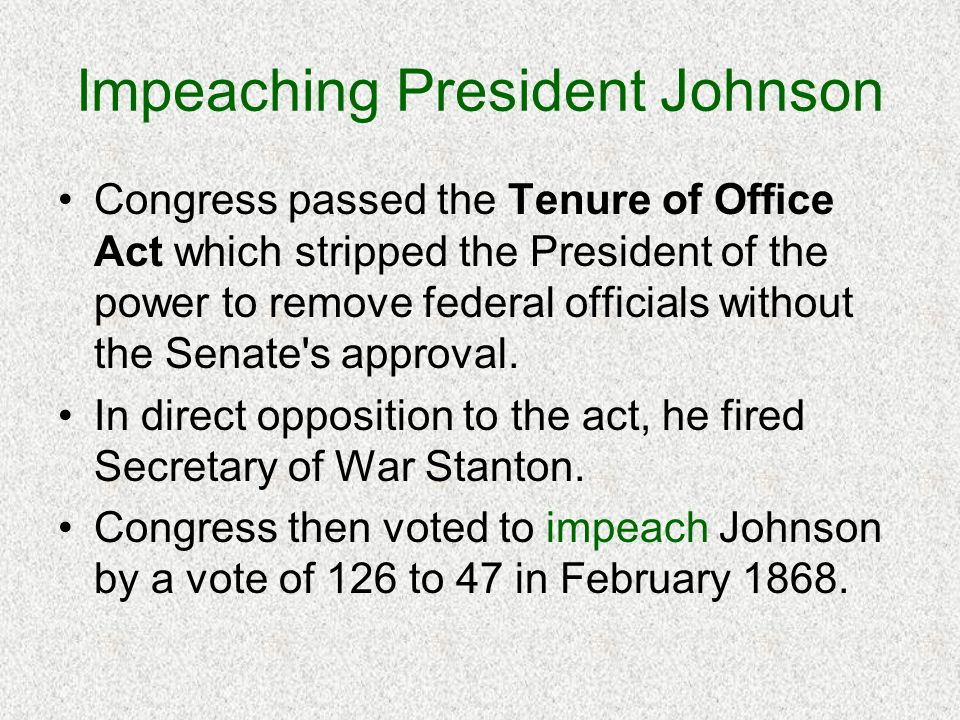 Impeaching President Johnson