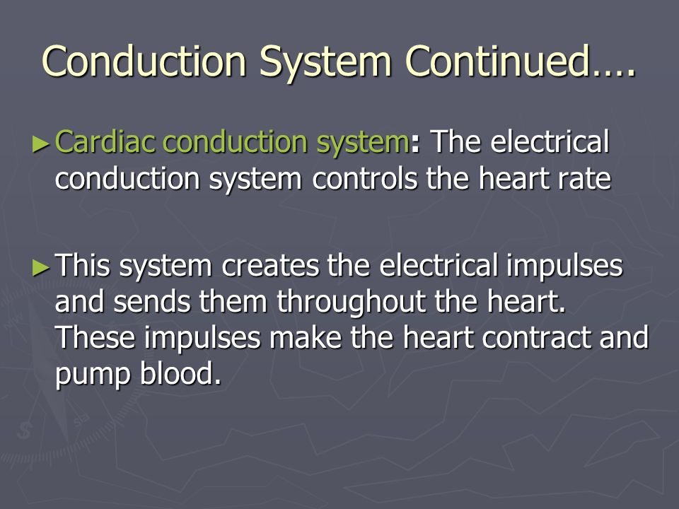 Conduction System Continued….