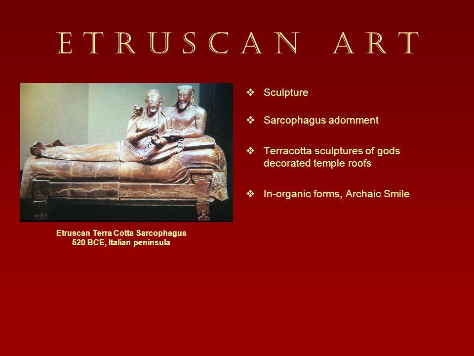 Etruscan Terra Cotta Sarcophagus